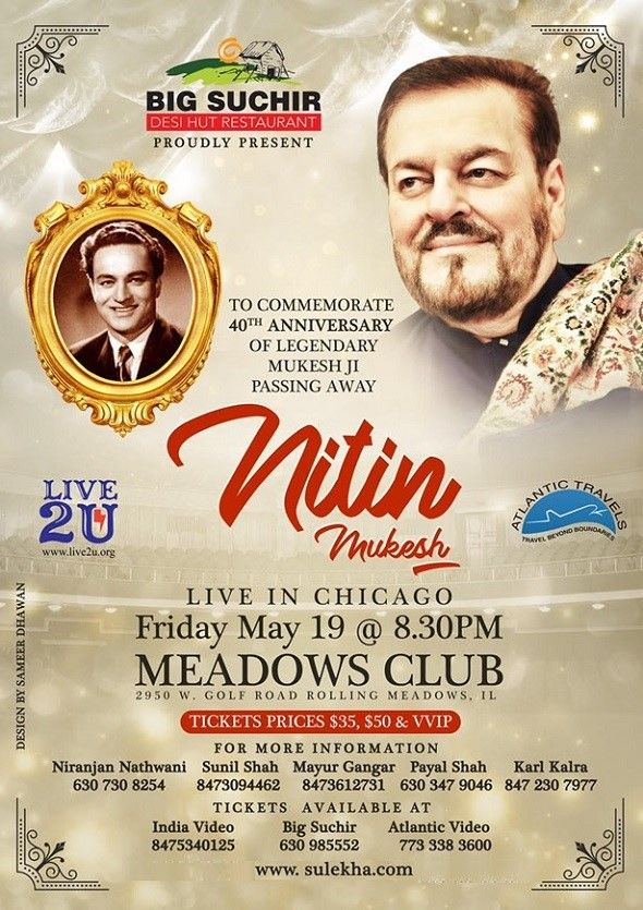 Nitin Mukesh Live In Chicago