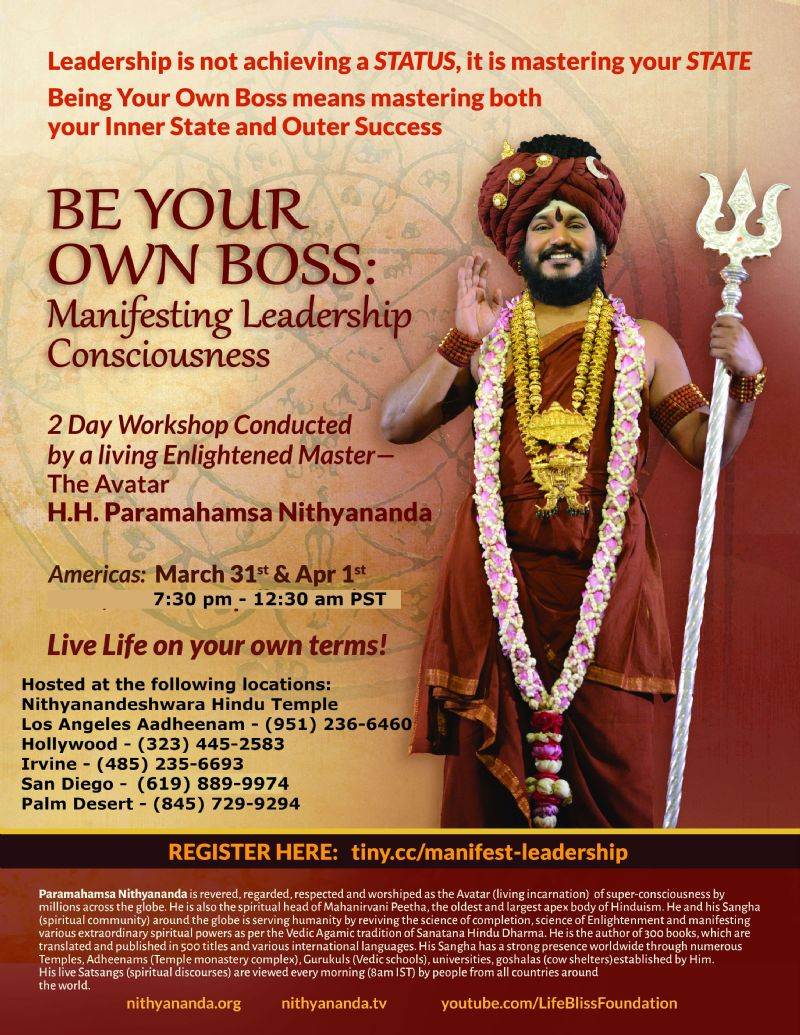 Be Your Own Boss: Manifesting Leadership Consciousness by