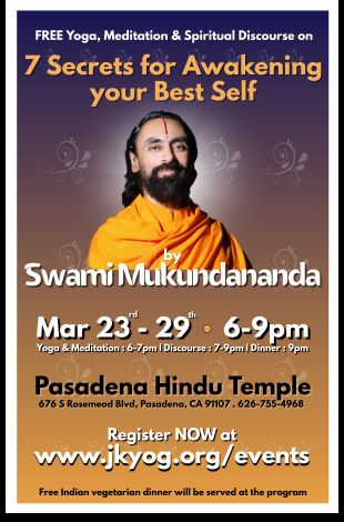 7 Days FREE Yoga, Meditation & Spiritual Discourse by Swami Mukundananda
